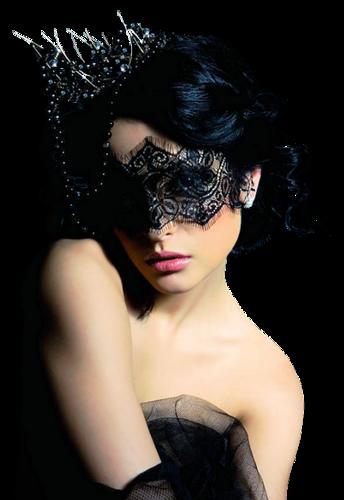 Femme aves masque