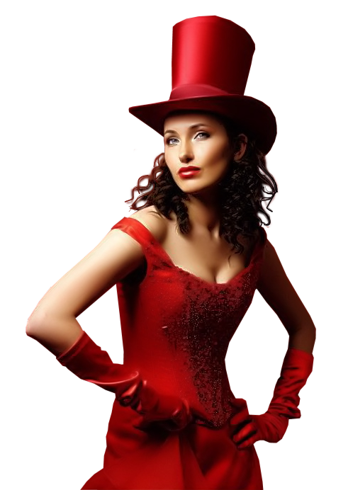 Femmes divers en rouge