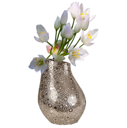 Fleur dans vase transparent fabulous superior composition - Grand vase en verre transparent ...