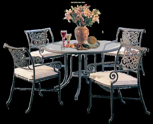 Accessoires de jardin - Pied de table transparent ...