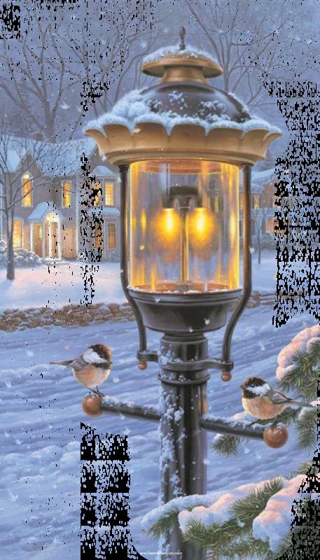 tubes noel lampadaire