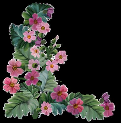 coins avec fleurs pour cadres - page 3