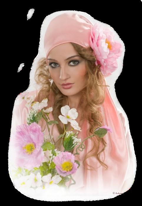 kadinlar, tube woman flower, transparan arkafon png papatyali sarisin ...